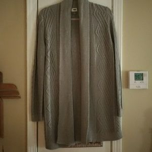 Old navy grey cardigan, M